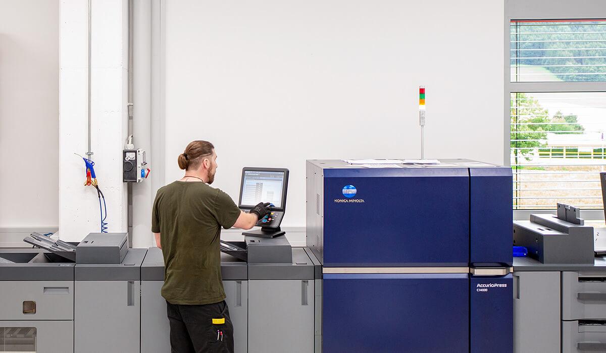 Druckerei Hohl Druckverfahren Digitaldruck