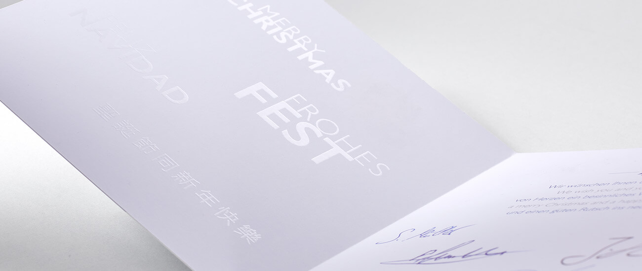 Druckerei Hohl Mailings Grußkarte