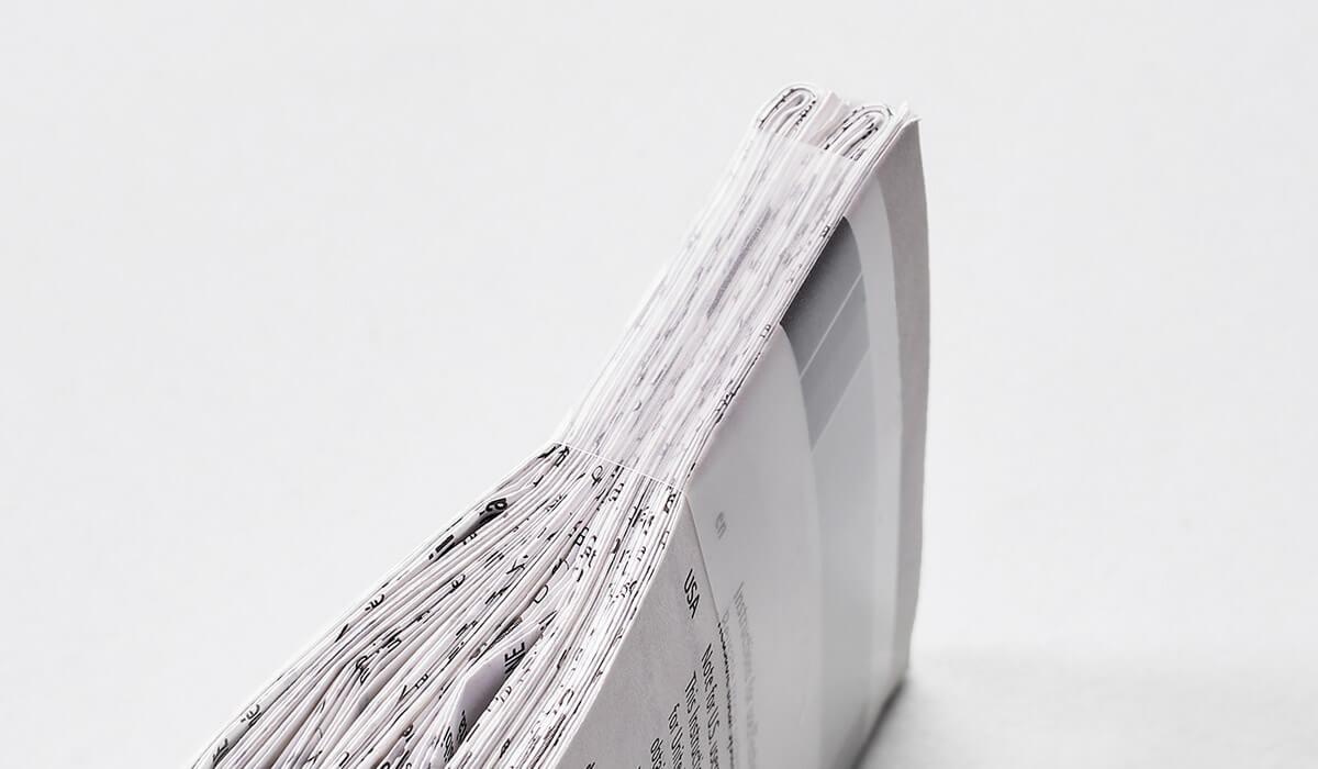 Druckerei Hohl Beipackzettel gefaltet klein